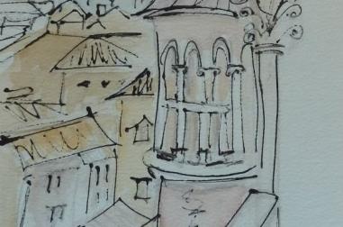 "Venetian Sketch II (8"" x 12"")"