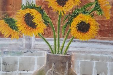 "Sunflowers (15"" x 19"")"