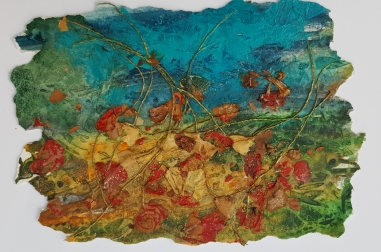 """Poppies with Wild Grasses  (16"""" x 12"""")"""