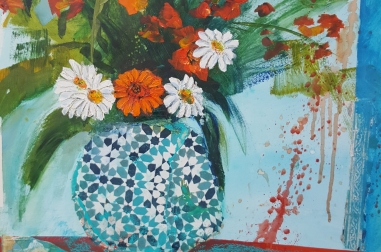 "Flowers in Vase  (18"" x 25"")"