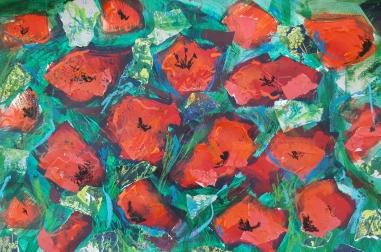 "Poppies II (16"" x 12"")"