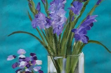 """Purple Gladioli (16"""" x 22"""")"""