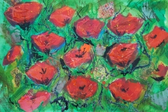 Poppies with Glitter £195.00