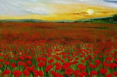"Tuscan Sunset (24"" x 18"")"