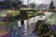 Lakeside-trees-Acrylic