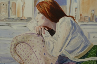 """Elsie On The Chaise (24"""" x 18"""")"""