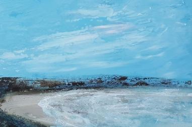 """Bracken Bay, Perranuthnoe (16"""" x 16"""")"""