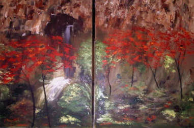Red Maples Diptych
