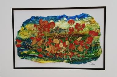 Windswept Poppies I