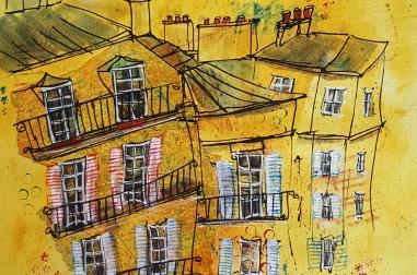 Yellow Paris Rooftops