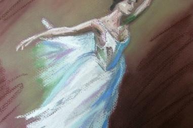 Ballet Dancer Pastel
