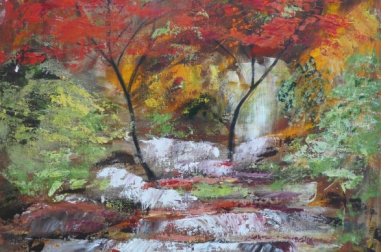 Red Maples Waterfall