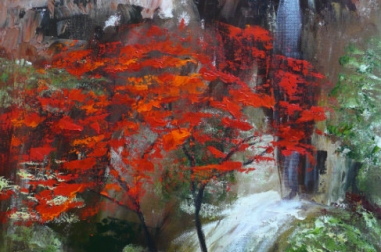 Red Maples with Cave