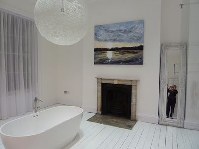 Large sunrise commission in Mr Harper's fabulous bathroom!